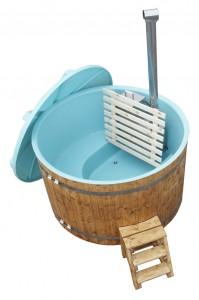 Ein Badebottich (spezielle Badewanne aus Holz)