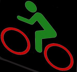 Bezeichneter Radfahrer