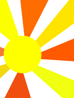 Bezeichnetes Bild der Sonne