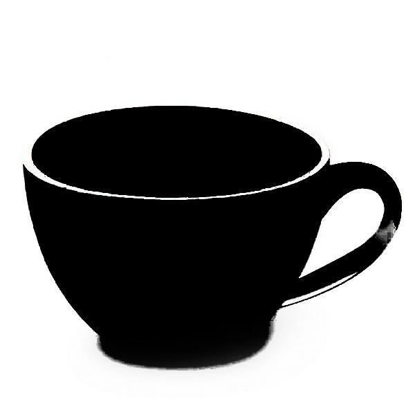 Eine schwarze Tasse Tee